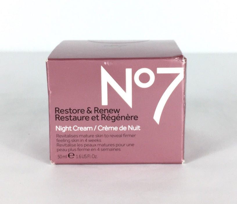 Boots No7 Restore & Renew FACE & NECK MULTI ACTION Night Cream FREE SHIPPING