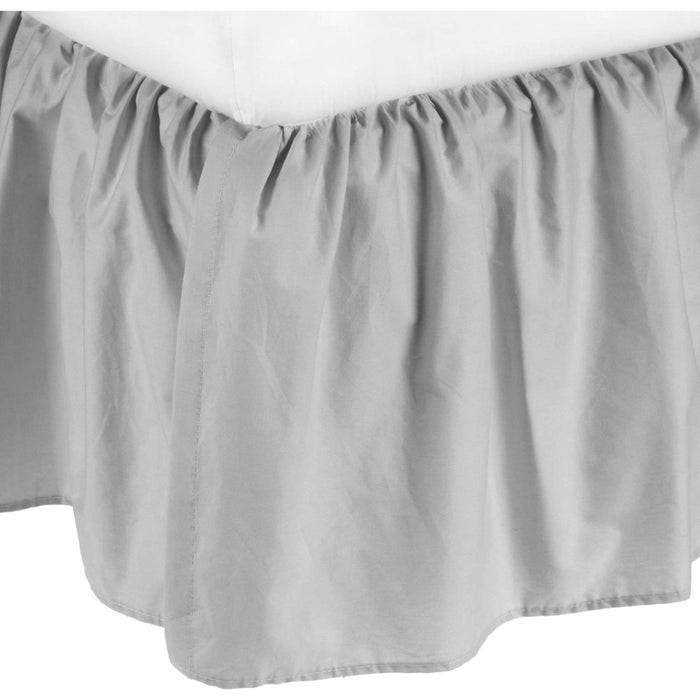 American Baby Company 100% Cotton Percale Portable Mini Crib Skirt, Gray 161