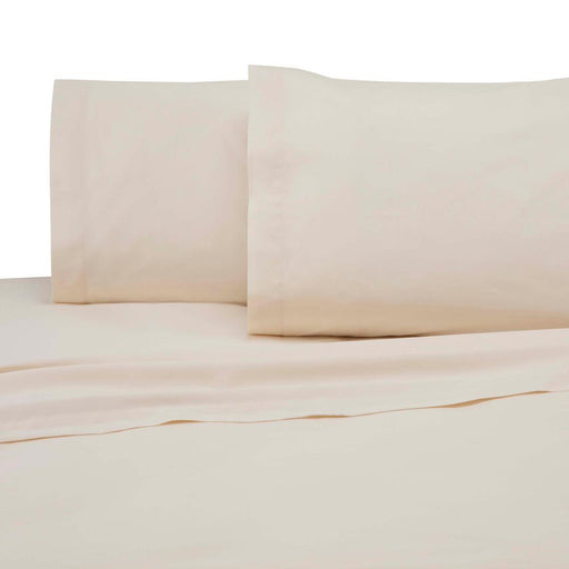 225 Thread Count Ivory Cotton Twin Sheet Set