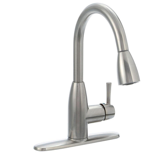Fairbury Single-Handle Pull-Down Kitchen Faucet in Stainless Steel 4005SSF