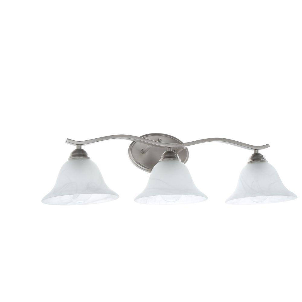 Hampton Bay Andenne 3-Light Brushed Nickel Vanity Light