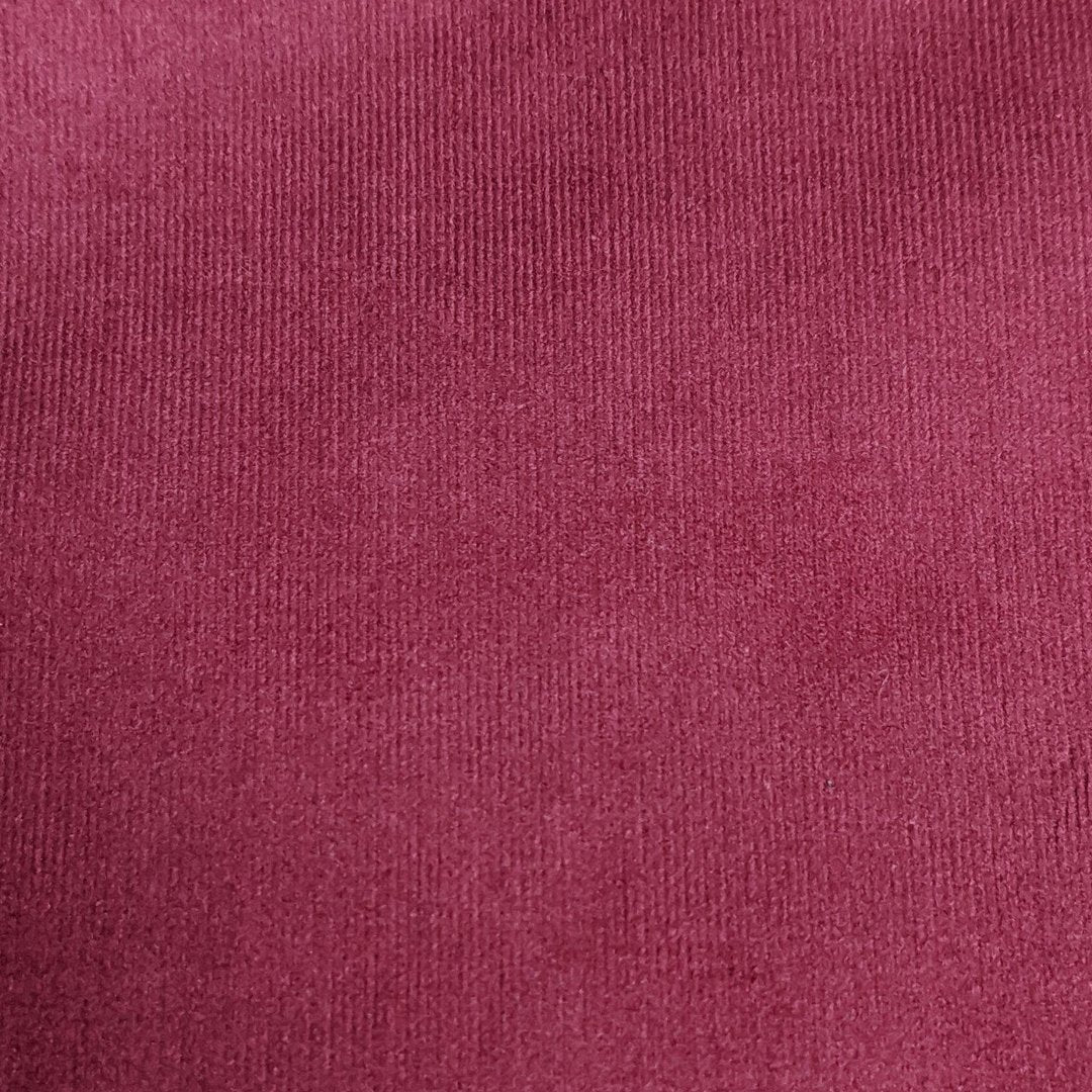BURGANDY NEEDLE CORD FABRIC P/M