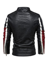 Carregar imagem no visualizador da galeria, 50% OFF-Contrast Leather Biker Jacket