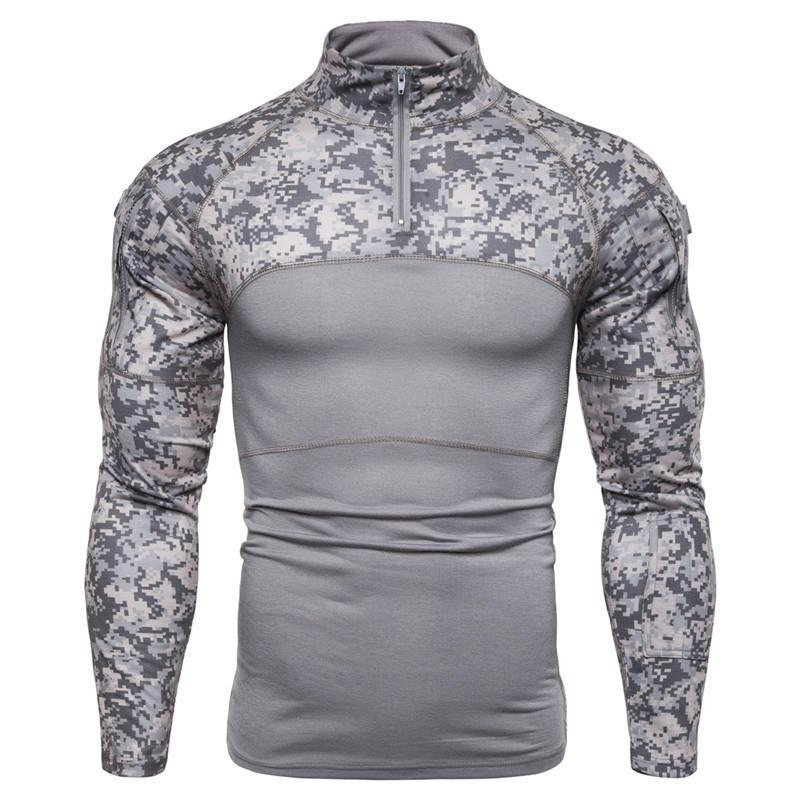 Men's Military Battlefield Outdoor Fitness Camo T-Shirt