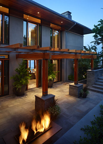 North Mercer Island Residence Fireplace Features