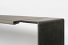 Black Desk wrapped with Pewter leather detail