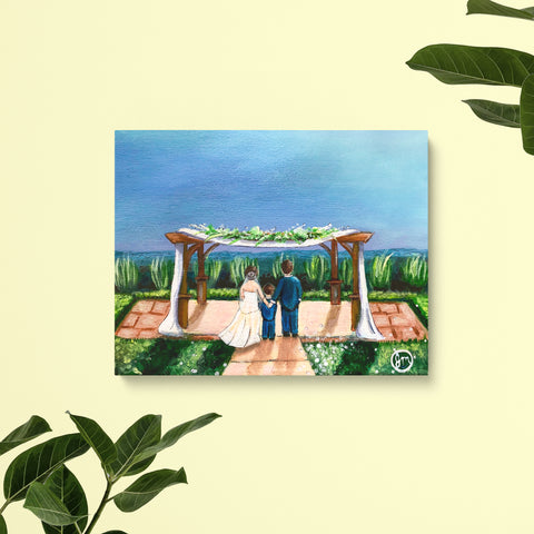 Custom Wedding Venue Painting