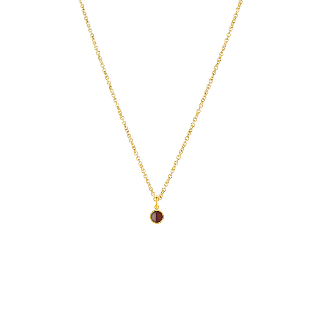 Birthstone-necklace-for-mom-gold-14k-Garnet