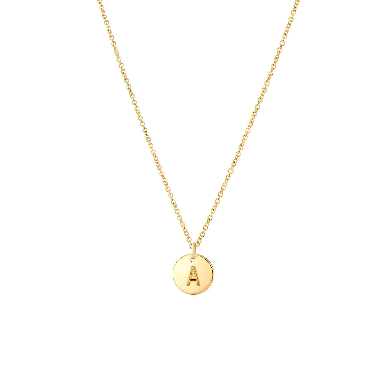 Initial Necklace - 14k Gold
