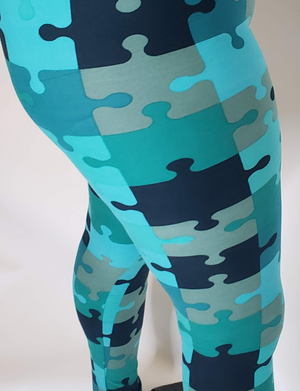 Puzzled Jigsaw Leggings - Touch Me Textures