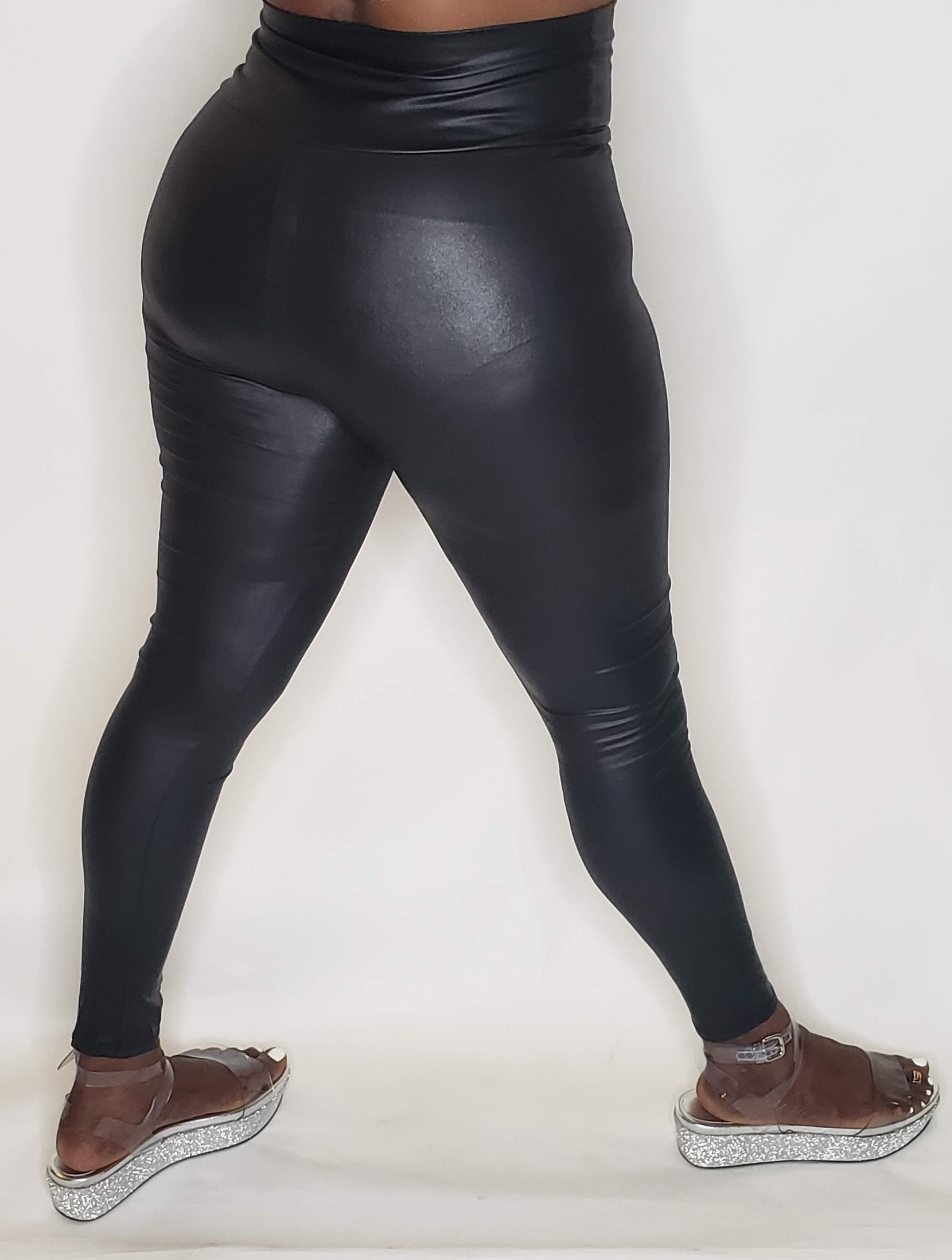 Smooth Laminated Leggings - Touch Me Textures