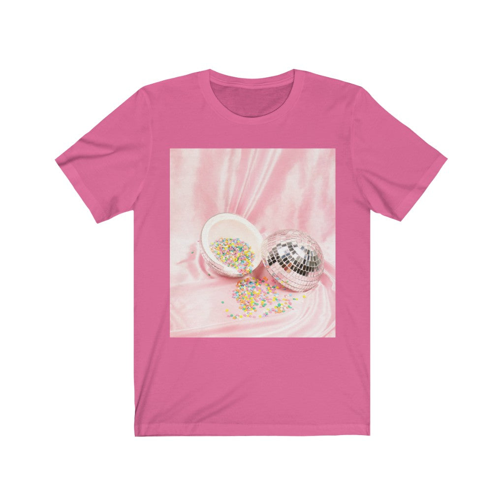 Sweet Candy Unisex Jersey Crew Neck Short Sleeve Tee - Touch Me Textures