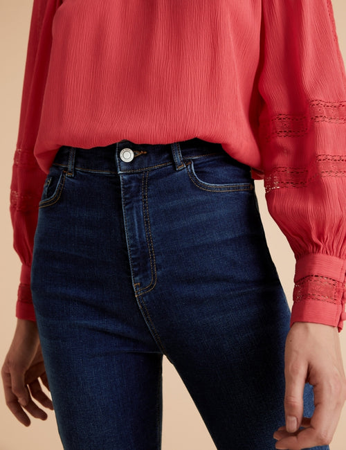 Tencel™ High Waisted Slim Flare Jeans