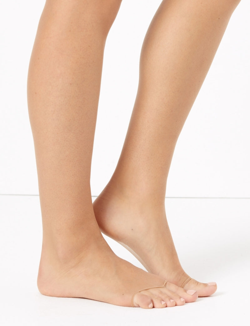 5 Denier Bare Invisible Open Toe Tights