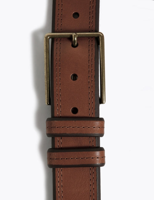 Leather Stitch Detail Belt