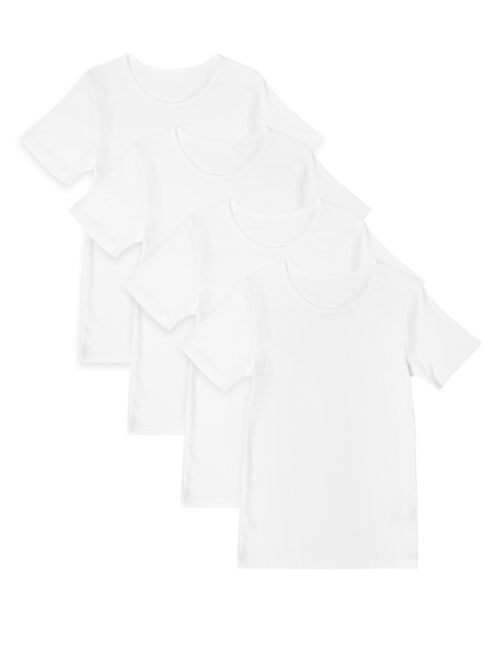 4 Pack Pure Cotton Short Sleeve Vests (2-16 Yrs)