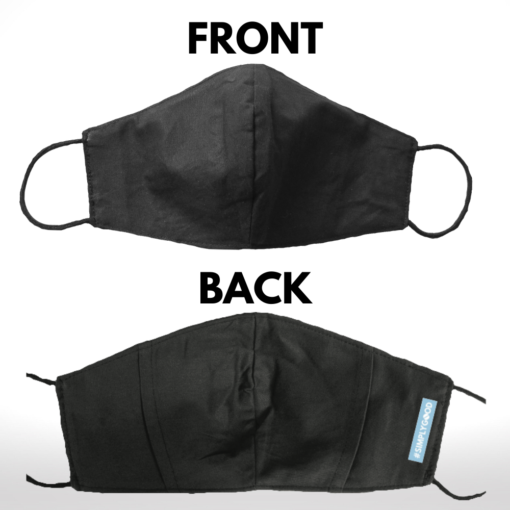 Front and back view of reusable mask