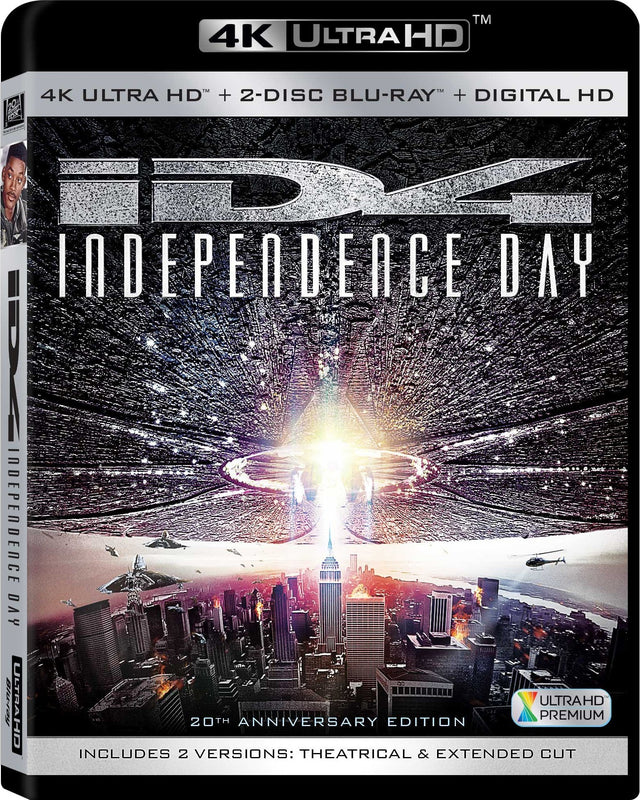 Independence Day  4K HD  Blu-Ray  Digital