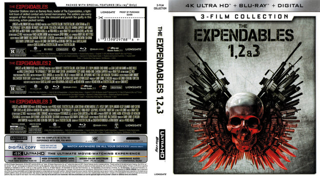 The Expendables: 3-Film  4K Ultra HD + Blu-Ray + Digital