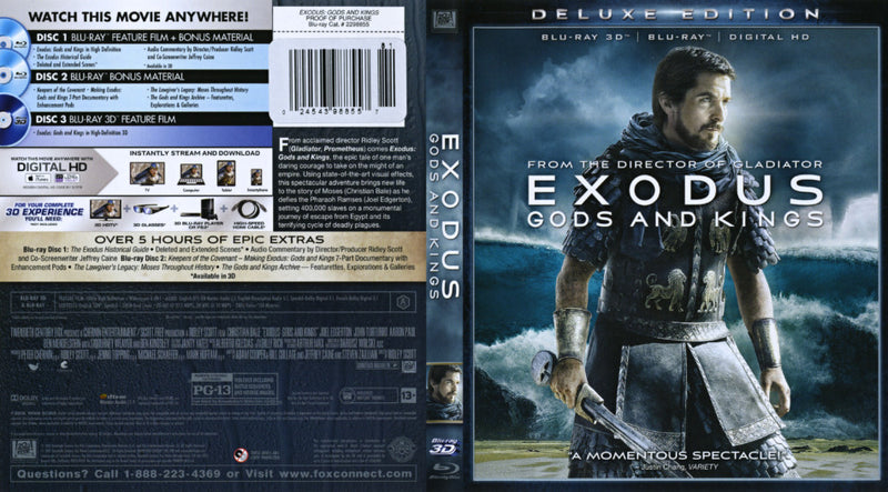Exodus: Gods & Kings [3D Blu-ray]