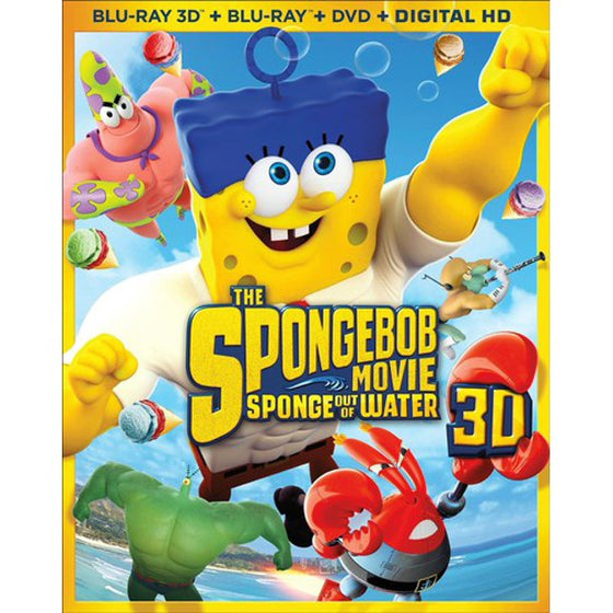 The Spongebob Movie: Sponge Out of Water [Blu-ray 3D + Blu-ray + DVD + Digital HD]