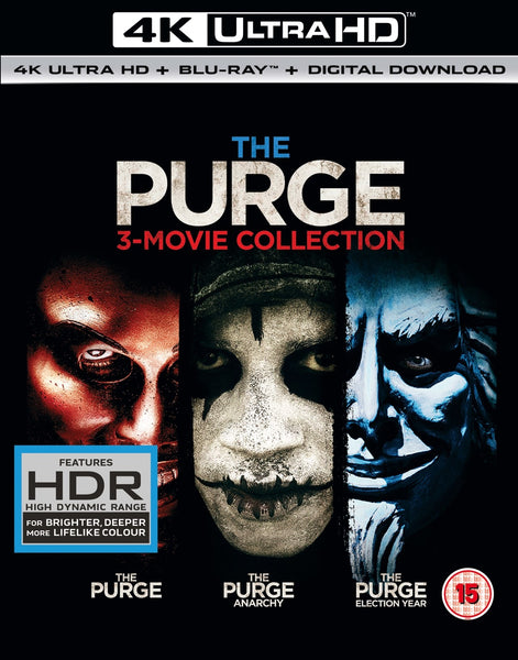 The Purge: 3-movie Collection 4K Ultra HD + Blu-Ray + Digital