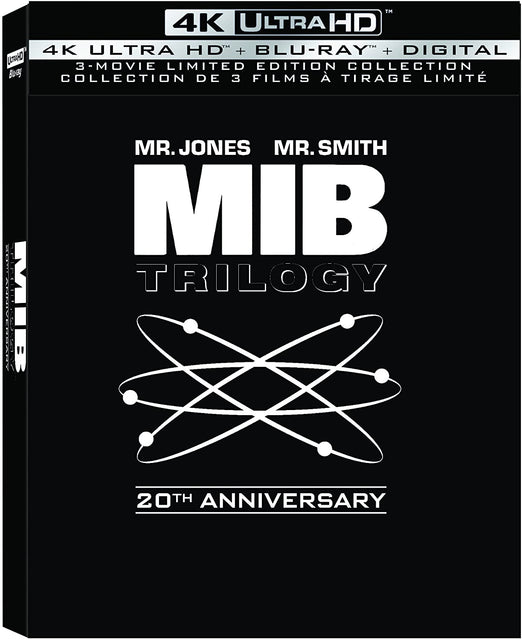 Men In Black Trilogy: 20th Anniversary Edition - 4K UHD + Blu-ray  + Digital