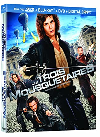 The Three Musketeers (Blu-ray 3D + Blu-ray + DVD)