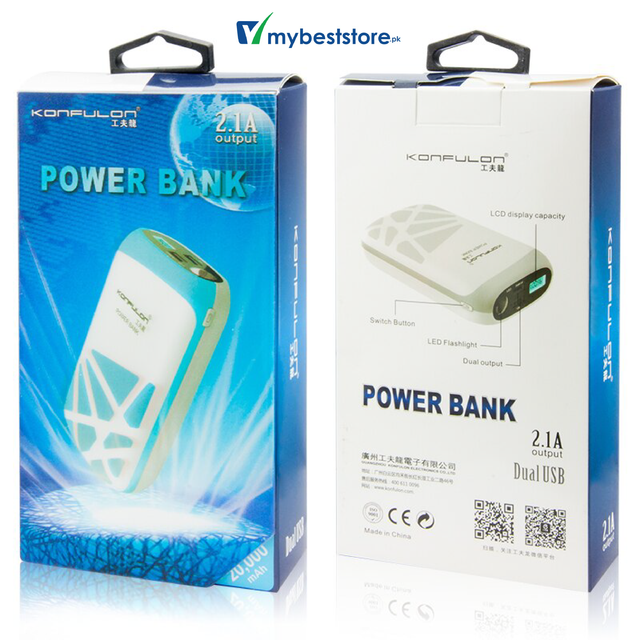 Konfulon  Power Bank 20000 mAh