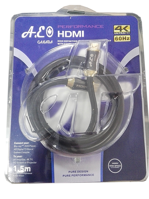 A.E Canada 4K Ultra HD HDMI Cable 2.0   1.5 Meter