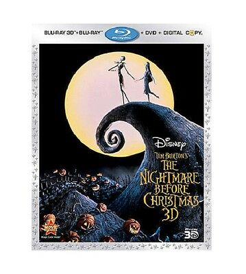 The Nightmare Before Christmas (Blu-ray 3D + Blu-ray + DVD + Digital copy)