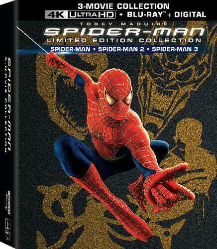 SPIDERMAN TRILOGY 4K BLURAY BOXSET COVERS & LABELS