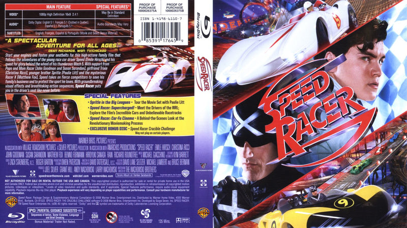 Speed Racer 3 Disc  [Blu-ray]