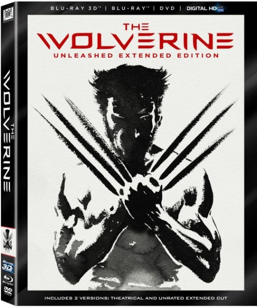 The Wolverine 3D Blu-ray 4 disc set
