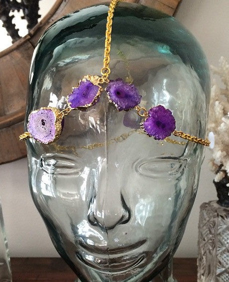 Purple Geode Headpiece