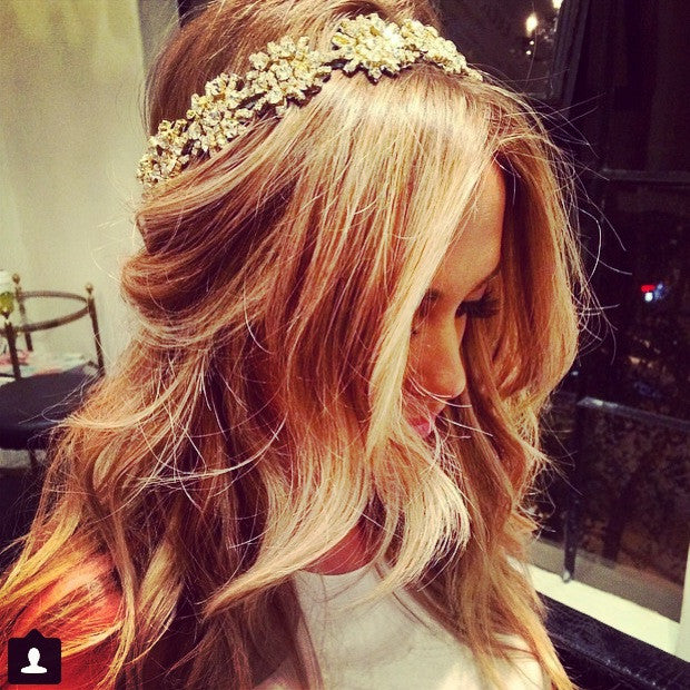 The Kaylen Headpiece- Gold- Large