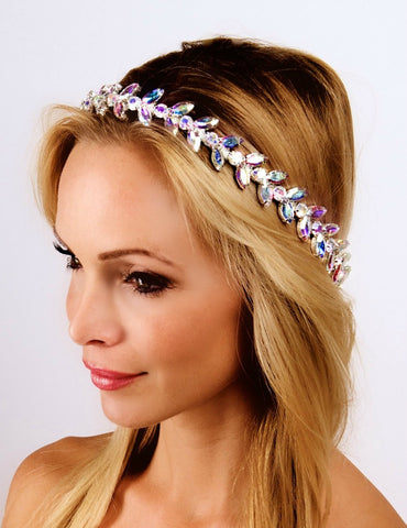 The Socci Headpiece-  Sparkly AB Color- Halo