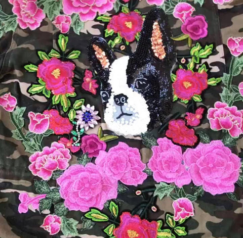 The Lil Bettie Frenchie Camo Jacket