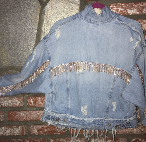 The Luminatti Distressed Denim Jacket