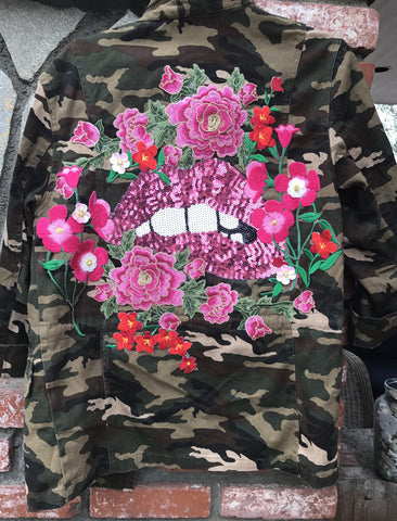 Bite Your Lip Camo Jacket