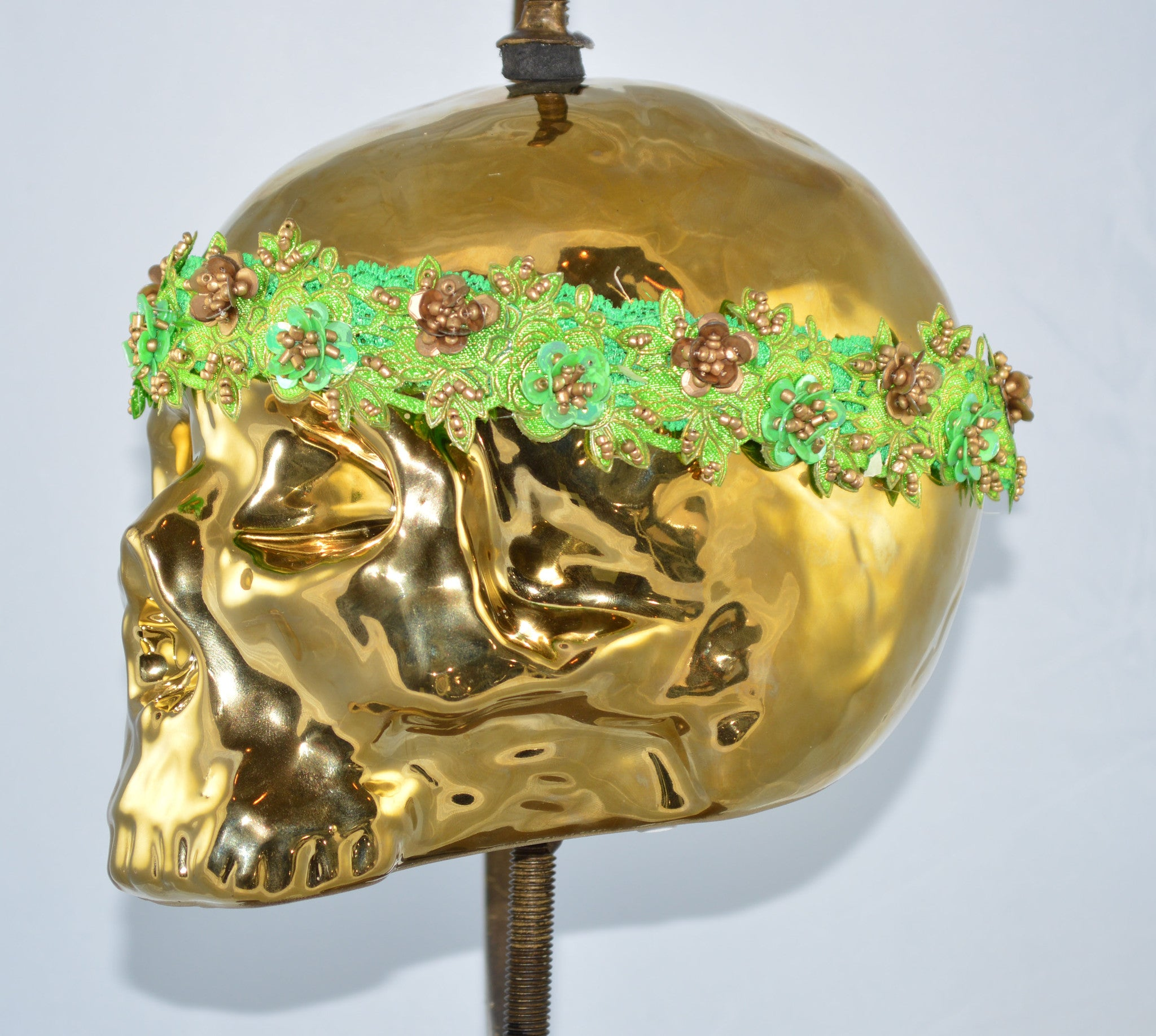 The Green Garden Party Headpiece