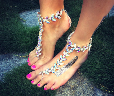 The Socci Anklet- AB CRYSTAL COLOR