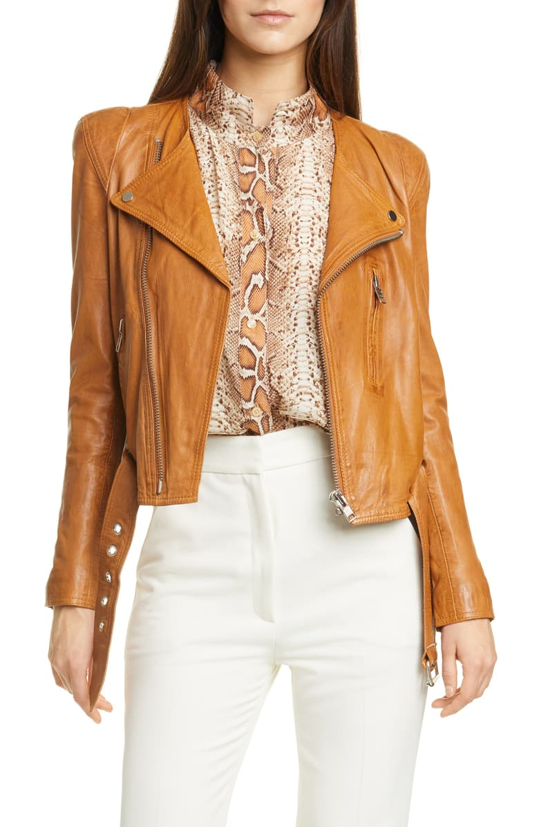 Smythe pagoda leather jacket