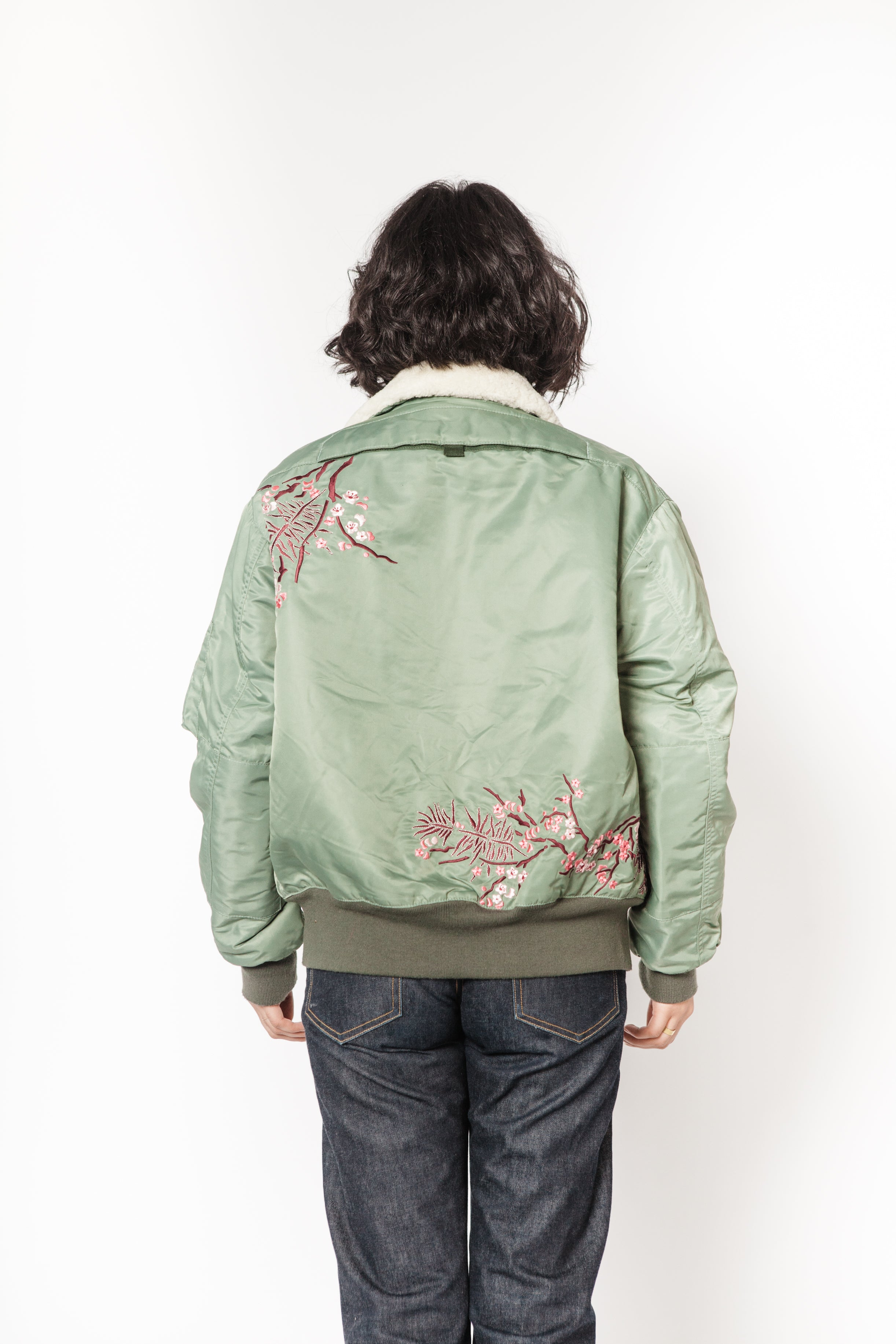 La Bete green bomber with tiger