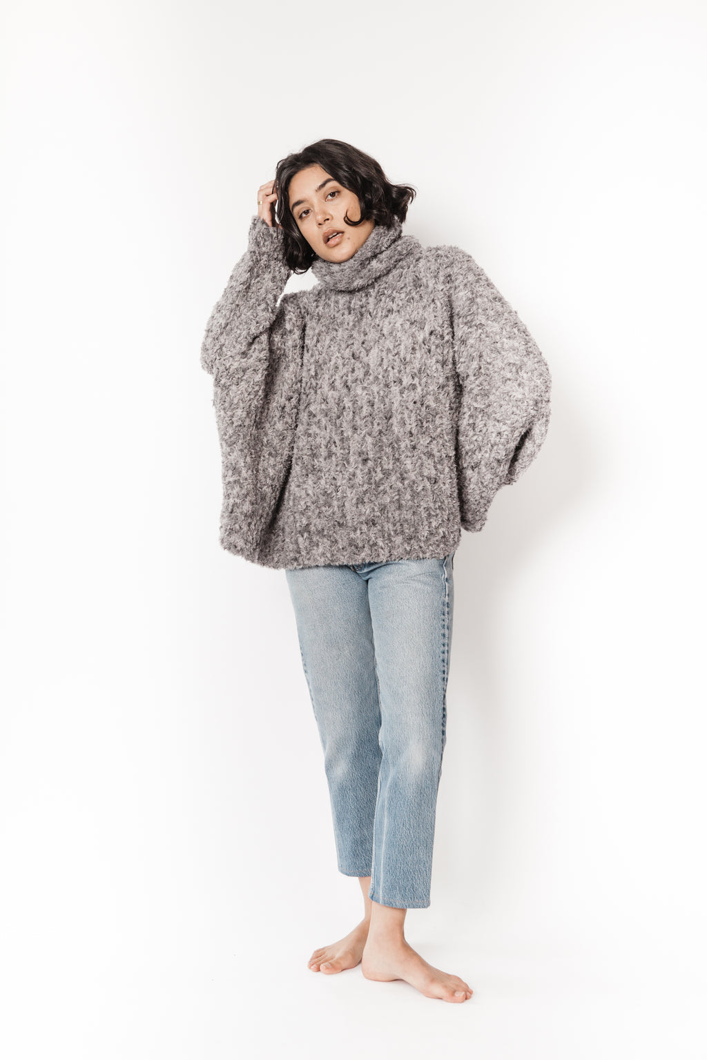 Smythe hand knit swing turtleneck