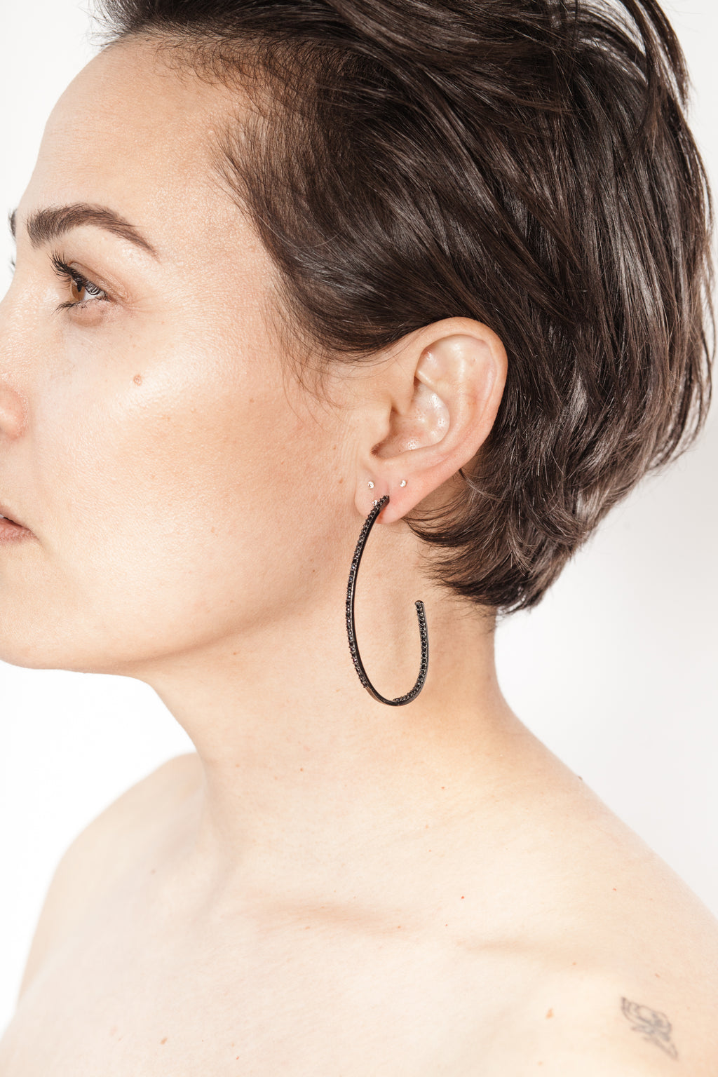 Paula Rosen spinel hoop earrings
