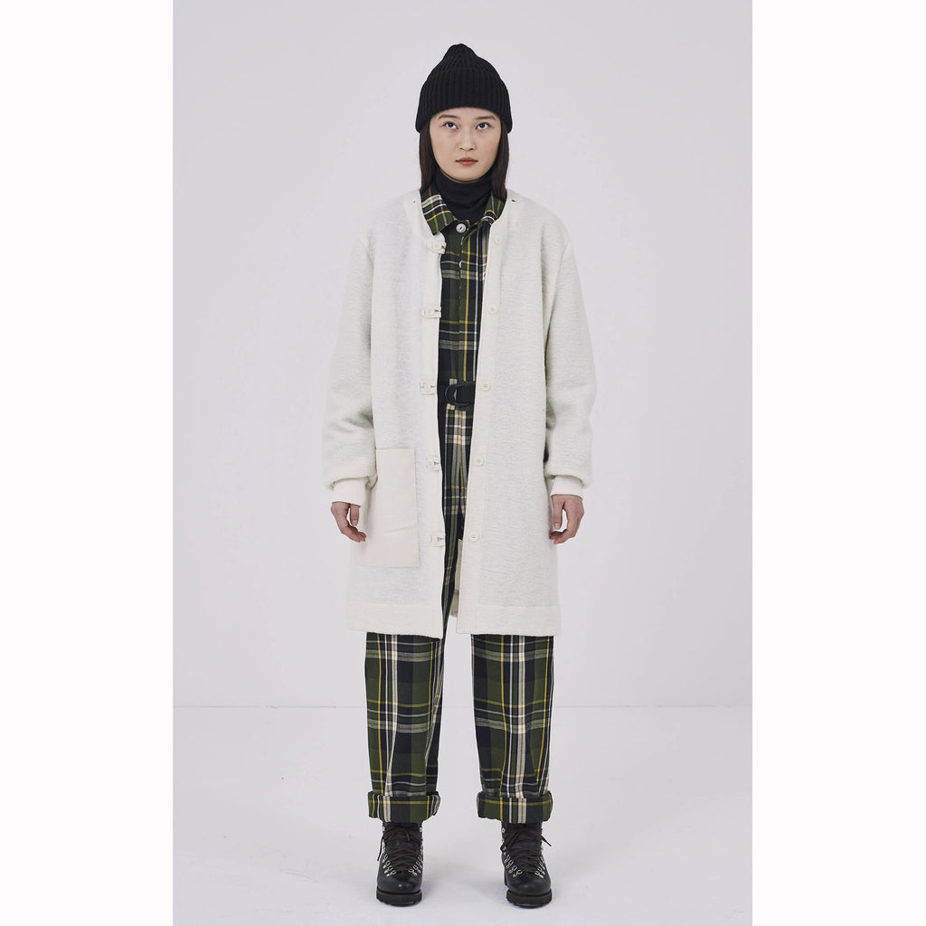 Girls Of Dust Field Coat Coated Bull Denim - Natural