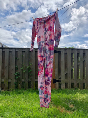 Søren unisex tie dye thermal onesie union suit