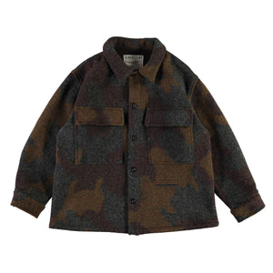 Girls Of Dust Worker Shirt Wool Camo - Khaki