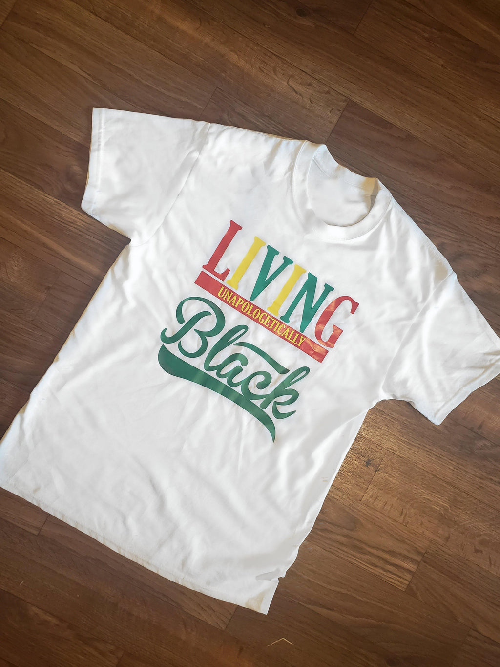Living Unapologetically Black Tee - Ethnic Beginnings